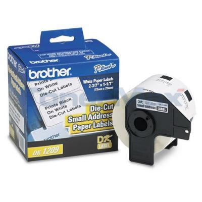 BROTHER P-TOUCH SMALL ADDRESS LABEL 1-1/7IN X 2-3/7IN